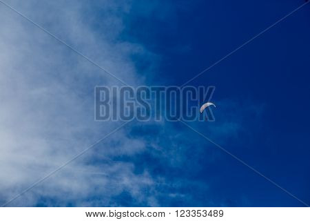 Beautiful Blue Skies With Clouds Over The Mountains