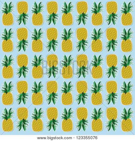 ananas seamless pattern, vector background, vector texture