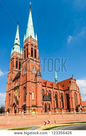 Basilica of Saint Antoni  in Rybnik, Silesia, Poland.