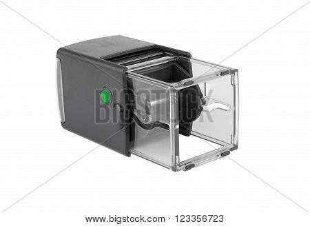 Automatic Plastic Hand Stamp Square Shape. With The Green Button.