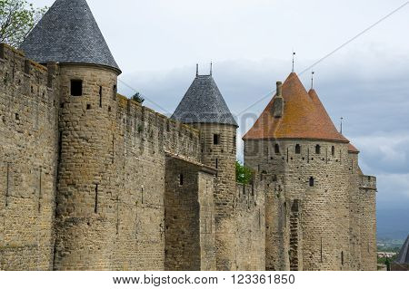 Medieval castle of Carcassonne Languedoc - Roussillon France