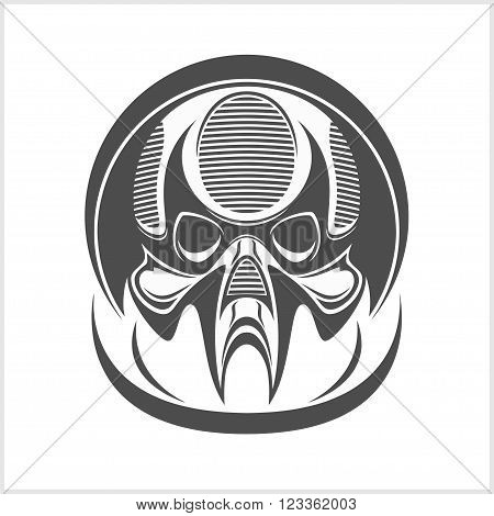 Demon scary Skull isolated on white background
