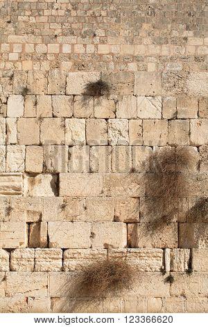 Western wall background, Old city of Jerusalem, Israel