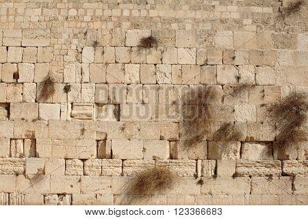 Western wall background, Jerusalem Old City, Israel