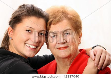 Granddaughter With Her Grandma
