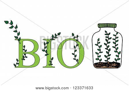 Labels set - eco bio healthy. Vector natural organic bio eco labels and shapes on white background.
