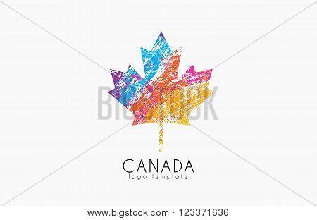 Maple leaf. Canada symbol logo. Canada logo.