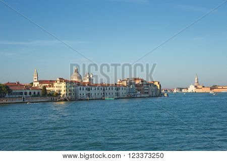 Early Evening With Sunset At Amazing Venice, Italy, Summer Time