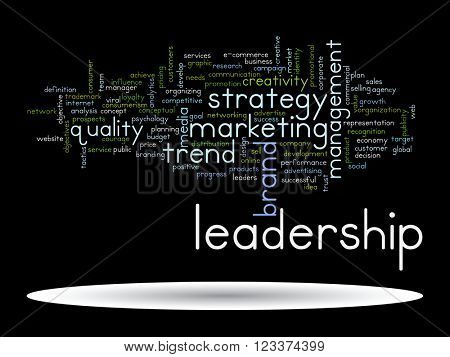 3D illustration concept or conceptual abstract business success or marketing word cloud or wordcloud isolated on background