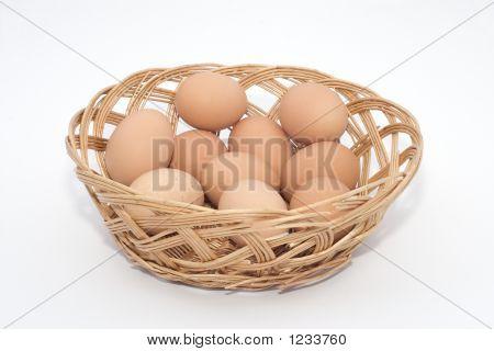 Eggs In  Wickerbasket