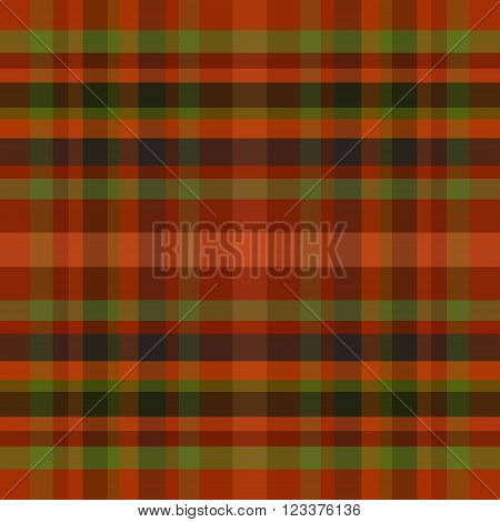 abstract vector tartan seamless - orange and green