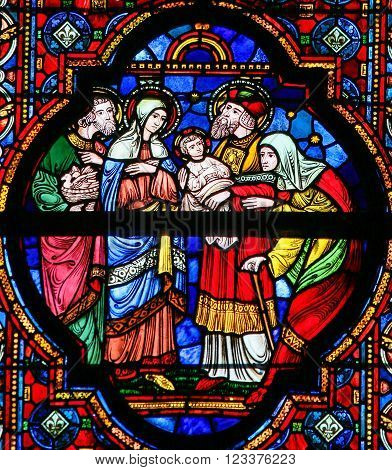 Holy Family - Stained Glass