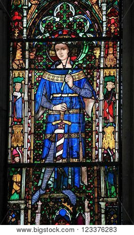 Stained Glass - Medieval King