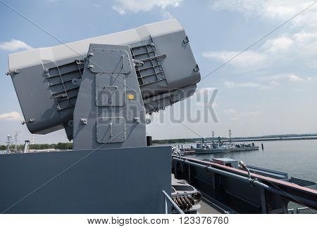 a rolling airframe missile on German corvette
