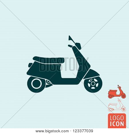 Scooter icon. Scooter symbol. Retro scooter icon isolated. Vector illustration