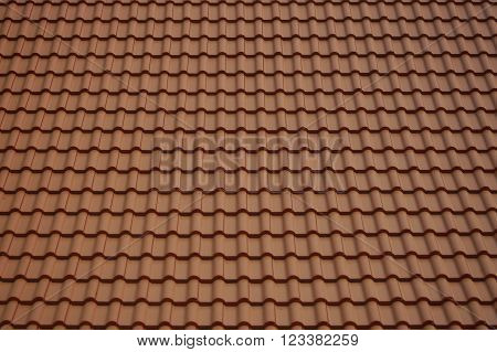 Tile roof of Buddhist temple, roof background.