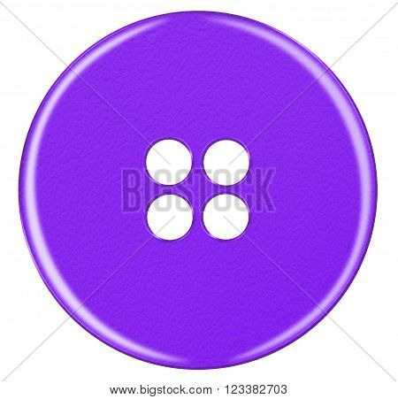 Plastic Button Isolated - Violet