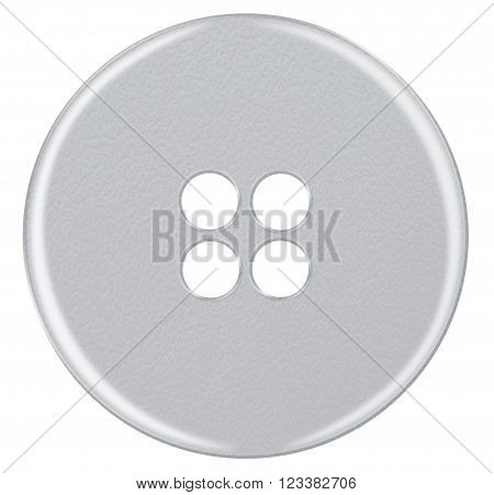 Plastic Button Isolated - White