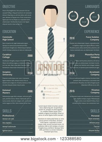 Modern resume cv curriculum vitae template design with business suit