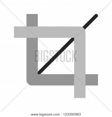 Frame, picture, crop icon vector image. Can also be used for photography. Suitable for use on web apps, mobile apps and print media.