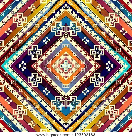 Seamless background pattern. Abstract diagonal ethnic pattern.