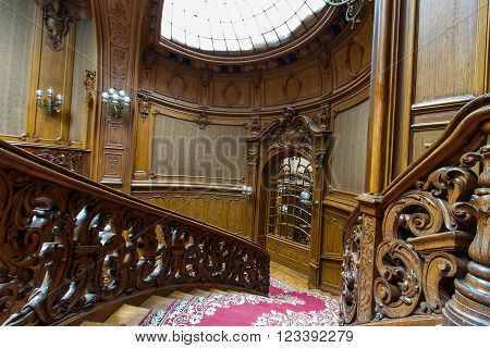 Lviv Ukraine - 18 February 2016: House of Scientists - a former national casino (until 1939) built by
