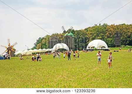 KYIV, UKRAINE - JUNE 21, 2015: Audience of World Music Festival
