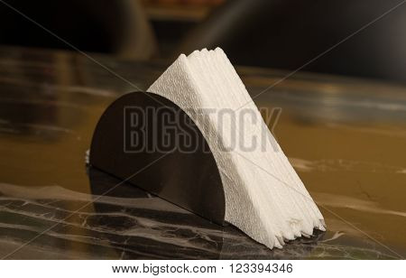 white tissue paper on a restaurant table