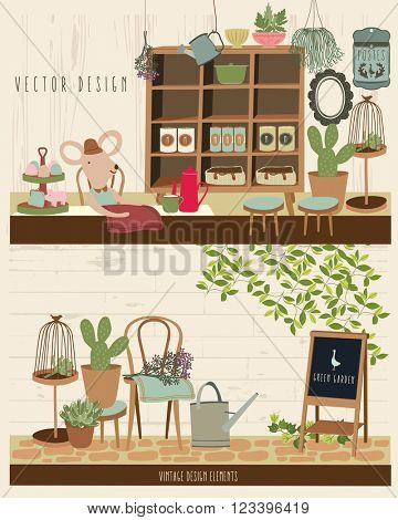 Cute Vintage Vector Elements 3