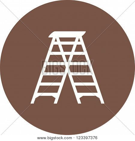 Ladder, tall, construction icon vector image.Can also be used for tools. Suitable for mobile apps, web apps and print media.