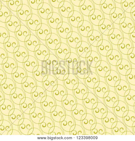 Seamless vector ornament. Modern geometric pattern with repeating golden waves