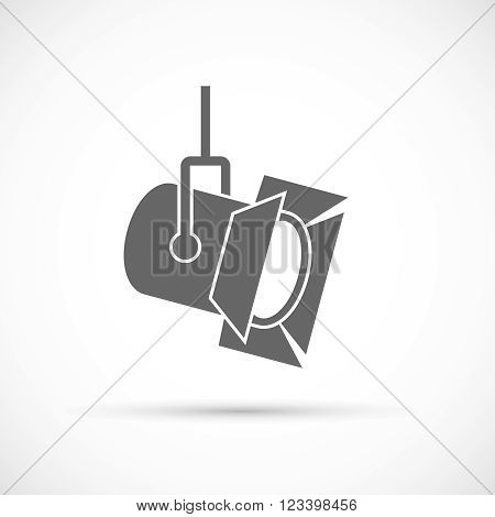 Movie spotlight icon. Film industry vector icon