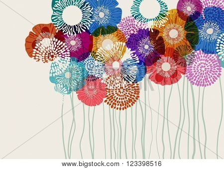 Colorful flower background, eps10 vector