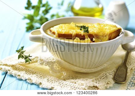 French Rustic Onion Soup.