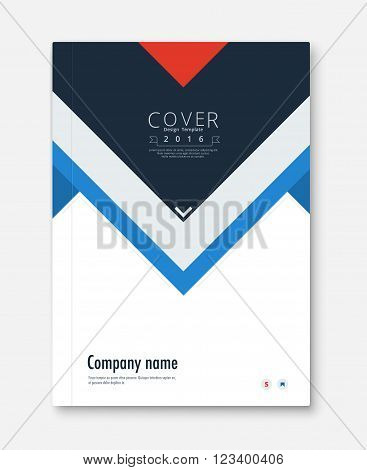 Annual report cover design. book, brochure template with sample text. vector stock.