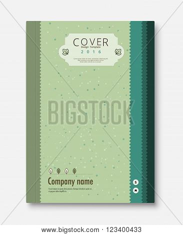 Vintage cover design template. book, brochure template. vector stock.