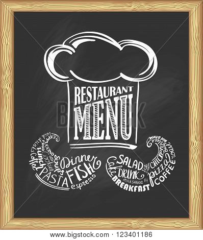 Cook's design for your restaurant on the chalkboard