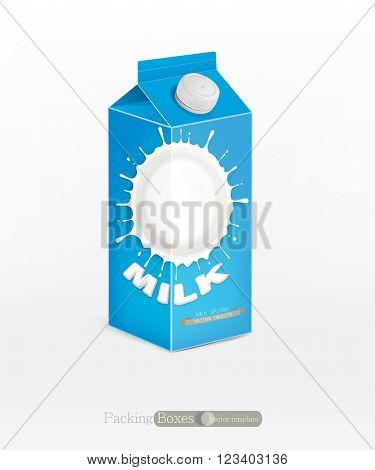 Vector pack of milk, isolated on white background