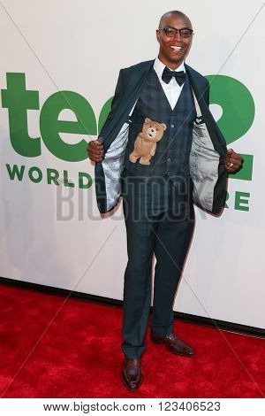 NEW YORK-JUN 24: NBA player Caron Butler attends the 'Ted 2' world premiere at the Ziegfeld Theatre on June 24, 2015 in New York City.