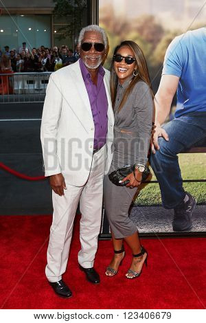 NEW YORK-JUN 24: Morgan Freeman (L) and Alexis Freeman attend the 'Ted 2' world premiere at the Ziegfeld Theatre on June 24, 2015 in New York City.