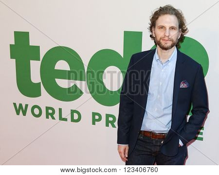 NEW YORK-JUN 24: Sebastian Arcelus attends the 'Ted 2' world premiere at the Ziegfeld Theatre on June 24, 2015 in New York City.