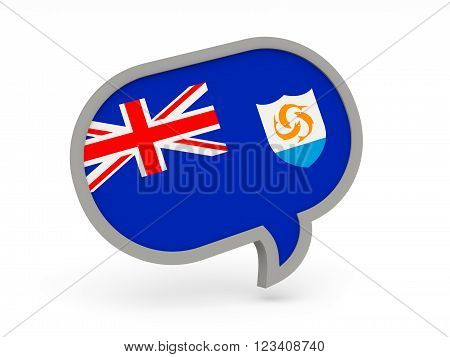 Chat Icon With Flag Of Anguilla
