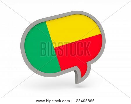 Chat Icon With Flag Of Benin
