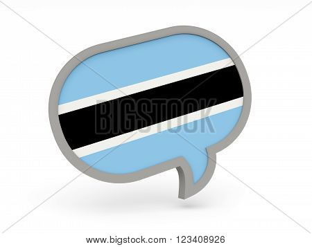 Chat Icon With Flag Of Botswana