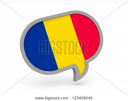 Chat Icon With Flag Of Chad