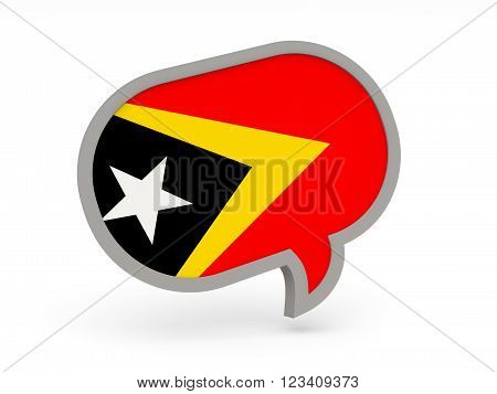 Chat Icon With Flag Of East Timor