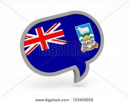 Chat Icon With Flag Of Falkland Islands
