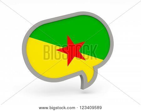 Chat Icon With Flag Of French Guiana