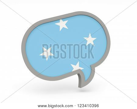 Chat Icon With Flag Of Micronesia