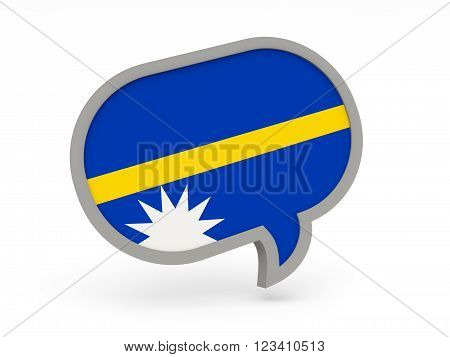 Chat Icon With Flag Of Nauru
